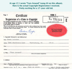 turn around copyright certificate