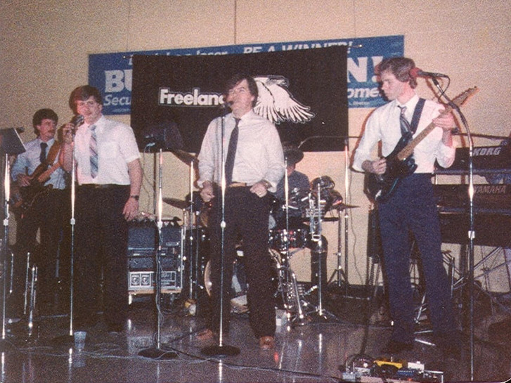 Early 1984 - Joe, Steve, Dave, Jeff, Frank