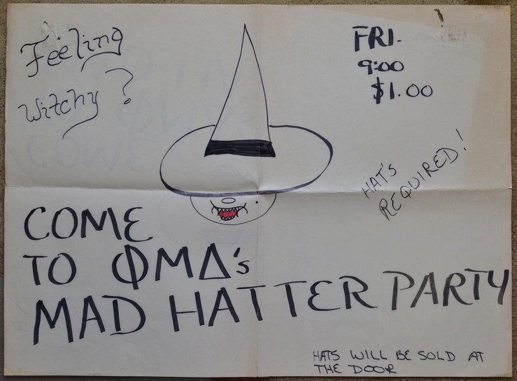 Frat party gig poster, Jan 1980