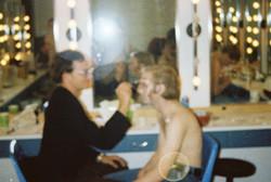 joe buckley doing makeup to george