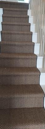Sisal stair runner