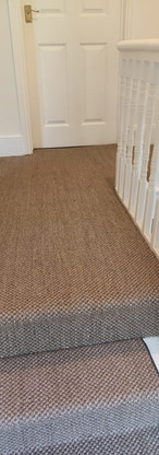 Hall and stair runner in sisal