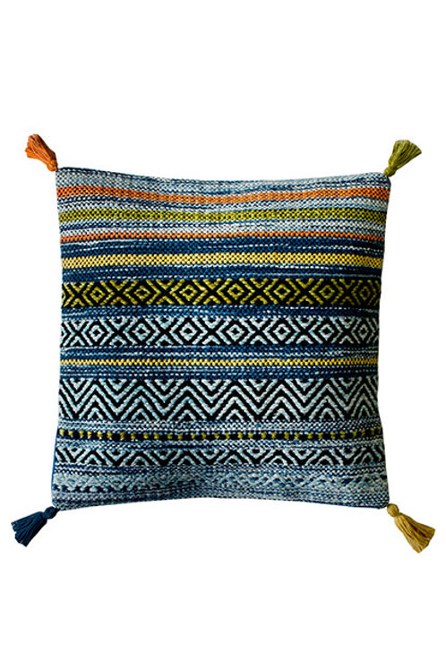 Kelim Blue Stripe Cushion Covers - Pack of 2