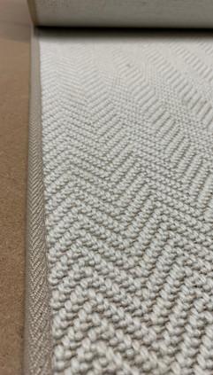 Boston Herringbone rug binding