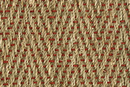 Seagrass Herringbone- Red Weft