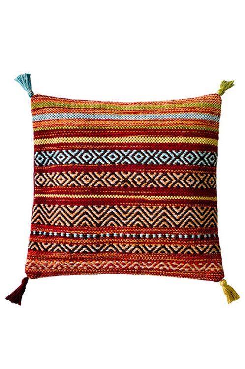 Kelim Red Stripe Cushion Cover- Pack of 2