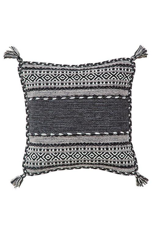 Kelim Charcoal Cushion Cover- Pack of 2