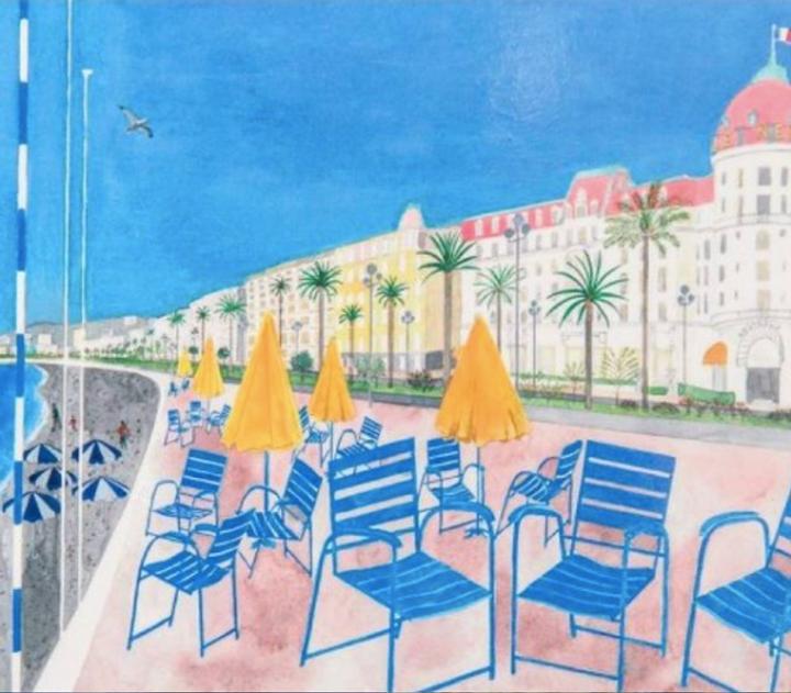 Chaise bleue promenade des anglais