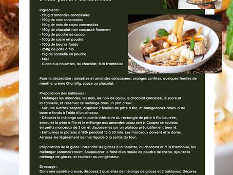 Nos recettes MLA : Baklawa au chocolat par Jean Haidar