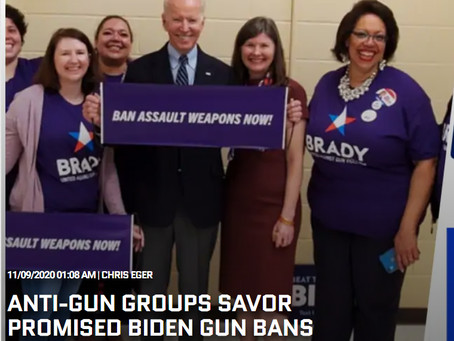 ANTI-GUN GROUPS SAVOR PROMISED BIDEN GUN BANS