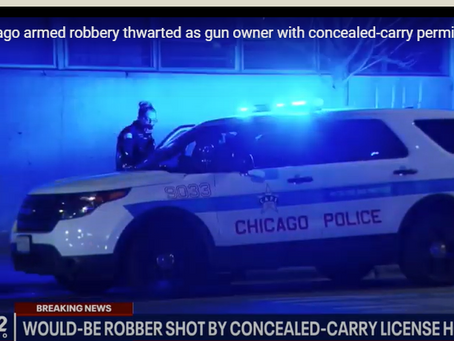 Chicago Armed Robbery Thwarted As Gun Owner With CCW Kills Suspect