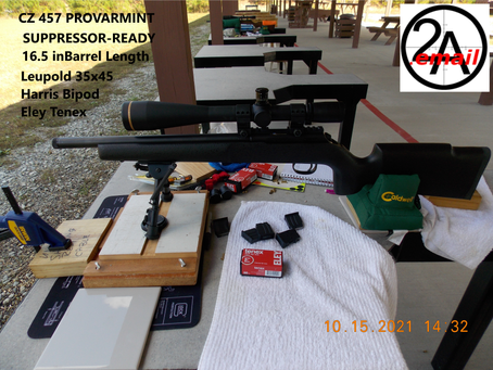 2A.email Reviews - My CZ 457 - IMPRESSIVE!! At the Range on Oct 15, 2021