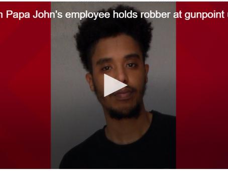 Macon Papa John's Employee Holds Robber at Gunpoint