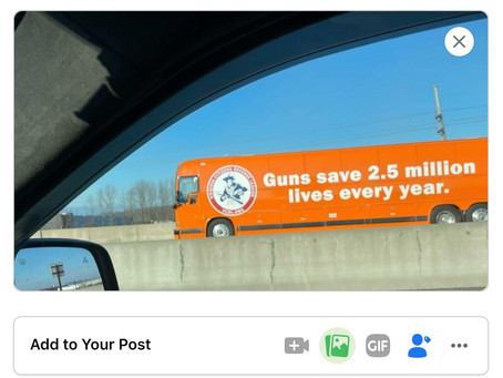 "FB Block Post Promoting ""Guns Save 2.5M Lives Annually"""
