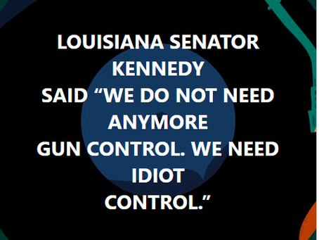 We Don't Need More Gun Control  Need Idiot Control