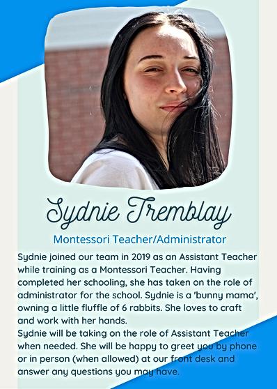 Sydnie Tremblay bio.png