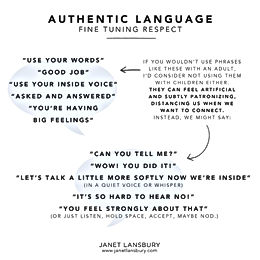 Authentic Language, Respecting the Child