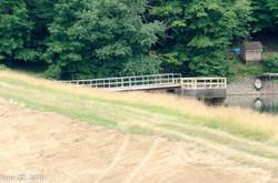Bridge to the spillway