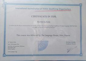 certificate tefl