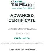 TEFL advanted certficate