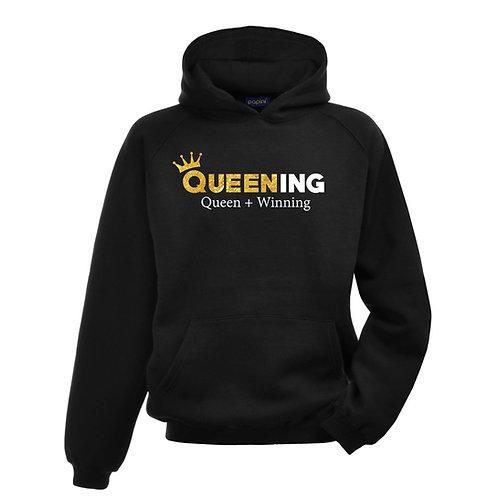 Queening Black Hoodie