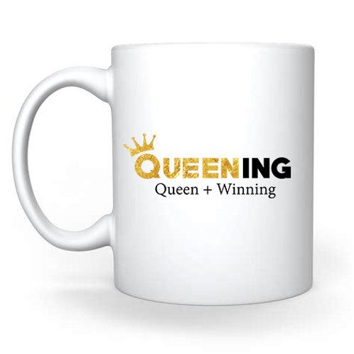 Queening White Coffee Mug