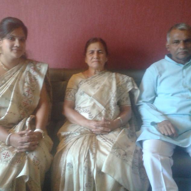 with Dr. Prakash Baba Amte and Dr. Manda tai Amte.