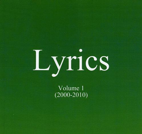 Lyrics: Volume 1 (Download PDF)