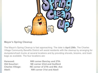 Mayor's Spring Cleanup!