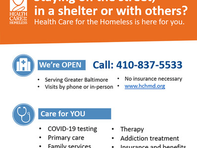 Health Care for the Homeless really needs your help
