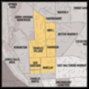 Map of Charles Village, Baltimore