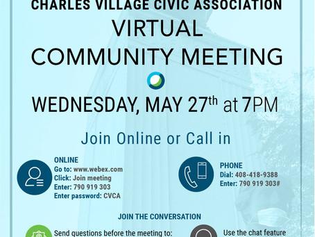 Charles Village Virtual Community Meeting