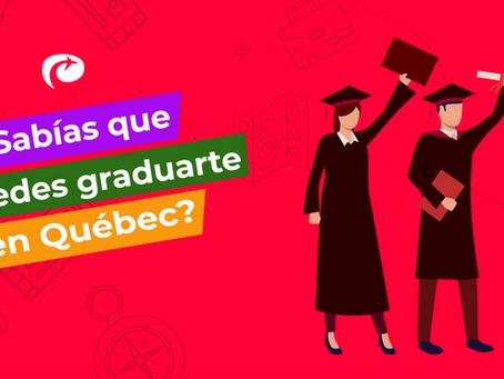 ¿Sabías que puedes graduarte en Québec? 🎓🇨🇦