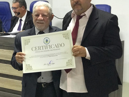 Vereadores de Propriá concedem título de cidadão a Francisco Gualberto