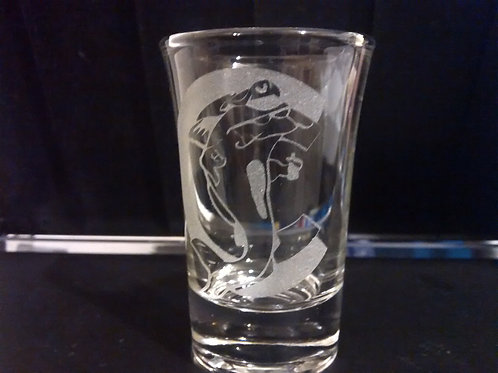 Captain Catfish custom Shot glass