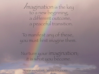 """The first in our series of  """"James-ism's"""" ~ Imagination"""