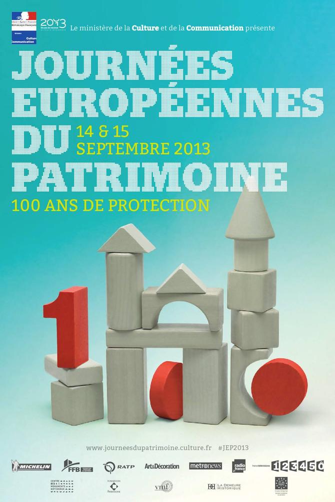 Journées Européennes du Patrimoine en France ce 14 et 15 septembre 2013