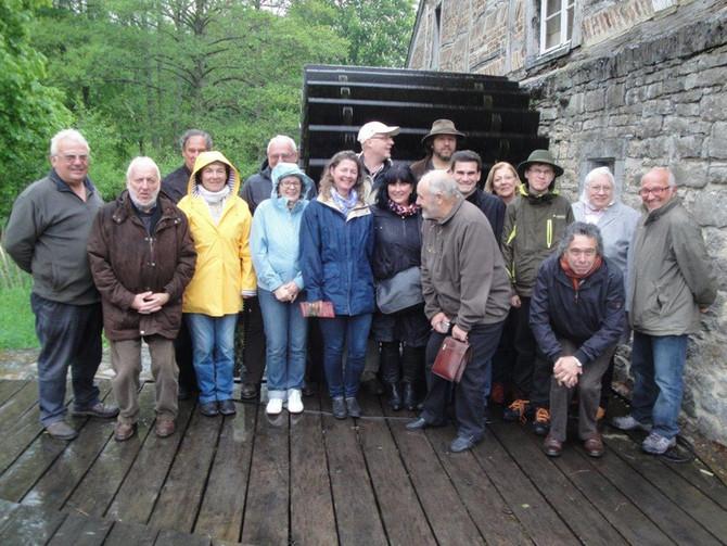 Visite des moulins et sites hydrauliques en Belgique en mai 2014