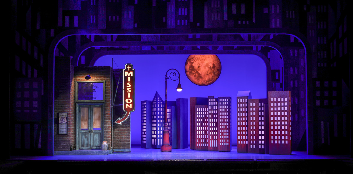 Built a 14 feet tall street lamp post to the designer drawings for a production of 'Guys and Dolls'.