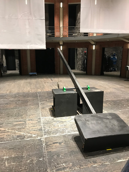 Designed, built, and automated a solo performance lift to lift a performer 3 feet off the ground for an opera