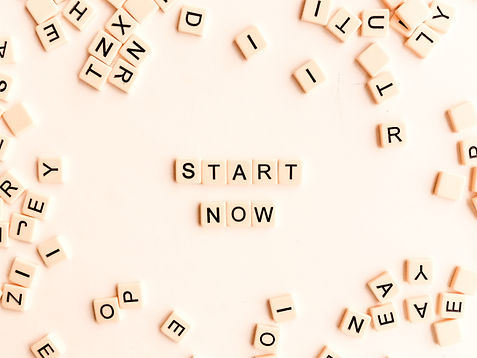 """Scattered scrabble letters on a light background with the words """"START NOW"""" spelled out for online therapy in Missouri with a licensed online therapist in Missouri. St. Louis based Marble Wellness provides online counseling in Missouri for depression, anxiety, mothers, and more. Online therapy for women in missouri is here for you."""