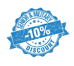 Senior discount, military discount, appliance repair services