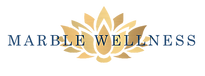 Marble Wellness logo. A therapist offering anxiety treatment, counseling for moms, help for postpartum depression and therapy for general mental health in St. Louis, MO.