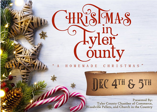 CHRISTMAS IN TYLER COUNTY POST CARD fron