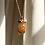 Thumbnail: Spessartine Garnet on Smoky Quartz Porous Earth Necklace - 14k gold