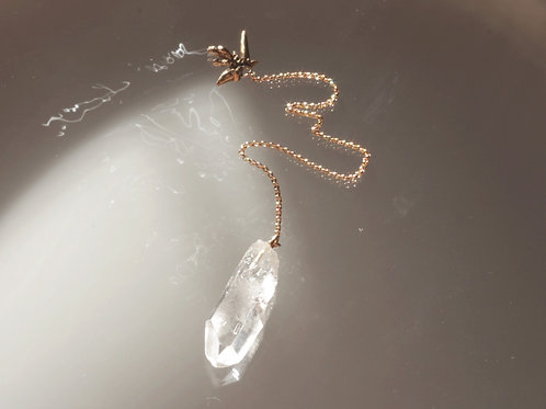 Clear Quartz Pendulum w/ Gold Fill