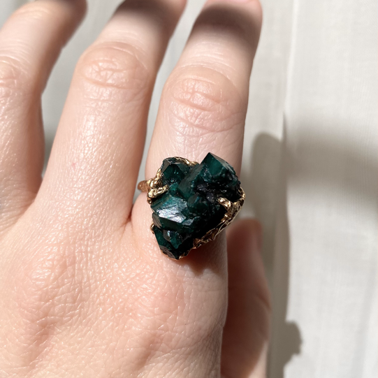 Dioptase by Courtney Bensik Jewelry
