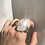 Thumbnail: Clear Quartz Cathedral Ring- 14k gold