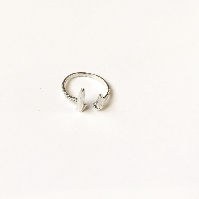 zincite cuff ring silver 3
