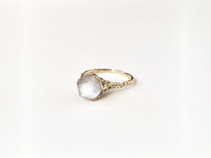 Apophyllite Crystal Ring